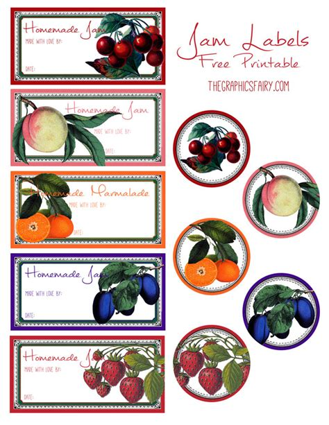 printable jam labels free printable jam labels the graphics fairy