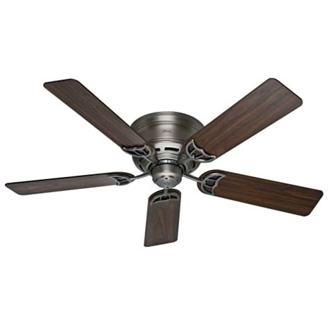 low profile ceiling fans flush mount 53071 low profile iii 5 blade 52 quot flush mount