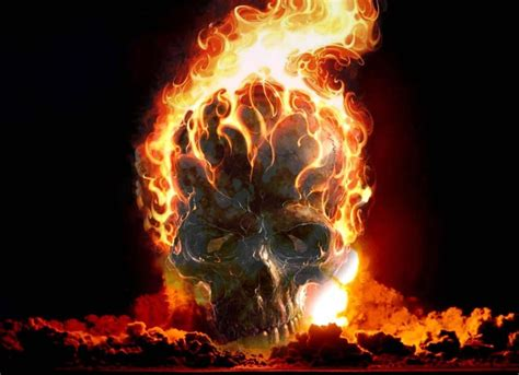 imagenes de calaveras en fuego fondo pantalla calavera en llamas
