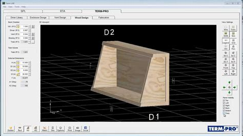 term pro enclosure design software free term pro loudspeaker enclosure design software tutorial