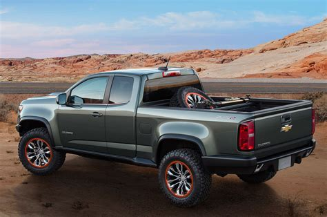 chevy concept truck chevy colorado zr2 concept unveiled at los angeles auto show
