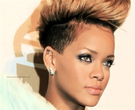 rihanna images of front and back short hair styles rihanna short hair ebony cuts pinterest shorts