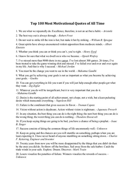 a list of motivational quotes shared by ali mayar
