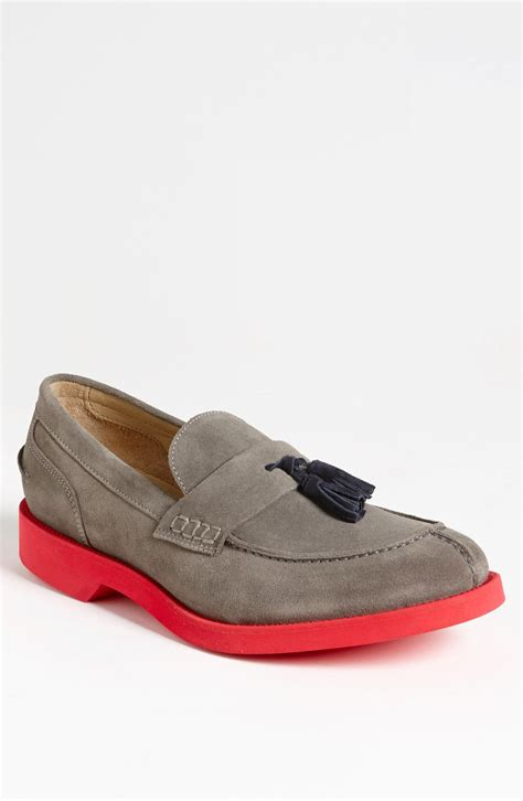 grey loafers for dean tassel loafer in gray for grey lyst