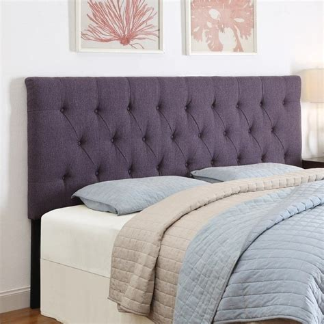 Purple Headboards by Pri Tufted Upholstered Headboard In Purple Ds 2302 2x0 Sp