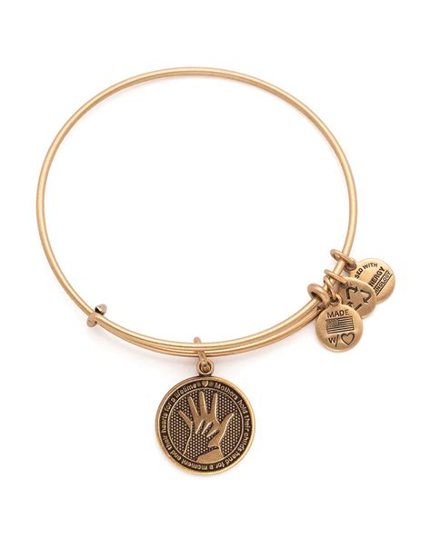 alex and ani lyst alex and ani in expandable wire bangle in