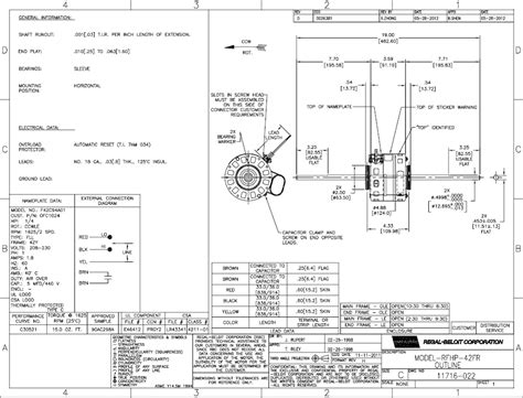 psc motor wiring diagram motor 208 230 vac 1625 rpm 2 speed psc single phase company oem images frompo