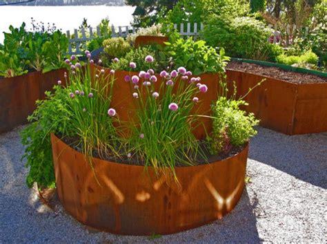 Steel Garden Planters by Garden Design Trends With Planters