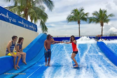 wave house wave house sentosa flowboarding wave machine in singapore