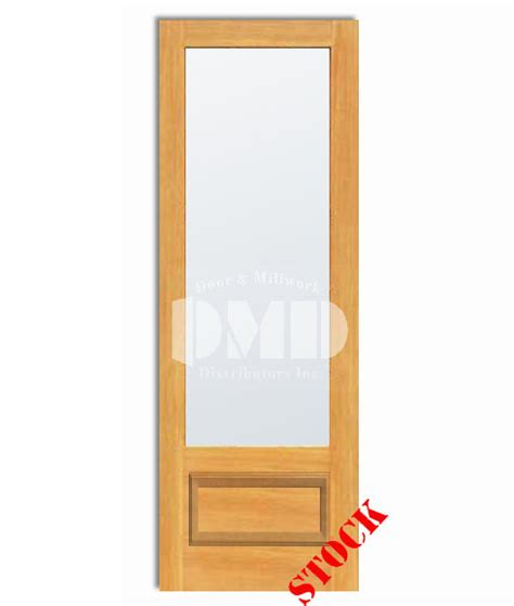 1 Lite French Frosted Glass Bottom Panel 3 4 Pine 8 0 8 Panel Glass Interior Door