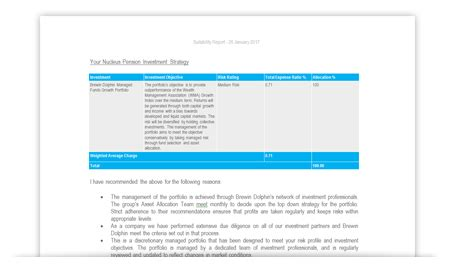 Suitability Report Template
