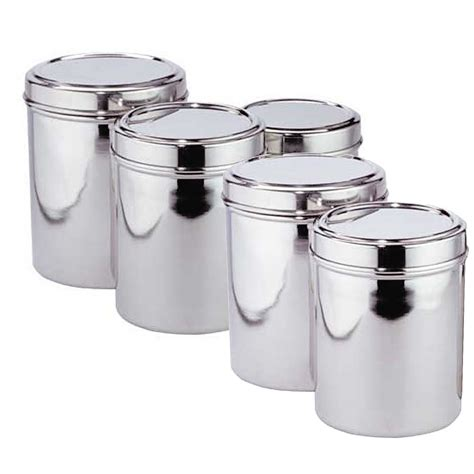 stainless steel kitchen canister 5 best stainless steel kitchen canister set convenient
