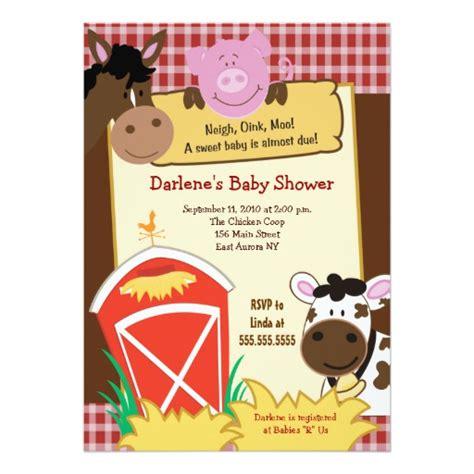 Farm Baby Shower Invitations by Farm Babies 5x7 Baby Shower Invitation Zazzle