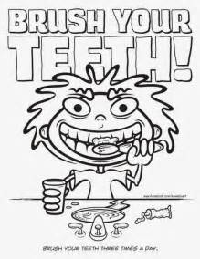 brush my teeth coloring pages