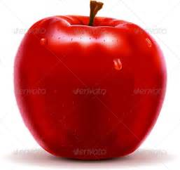 red apple isolated on white graphicriver