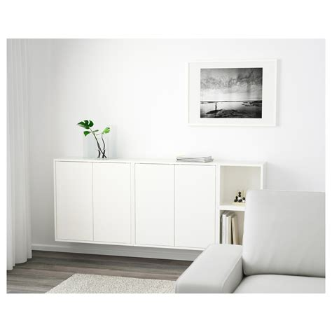 White Wall Mounted Cabinet by Eket Wall Mounted Cabinet Combination White 175x25x70 Cm