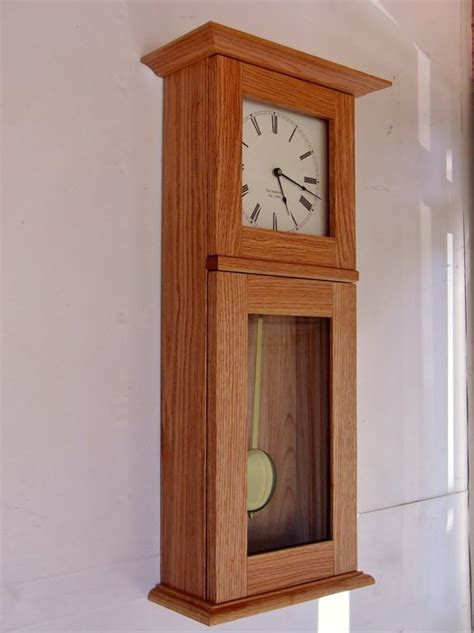wood work shaker style wall clocks  plans