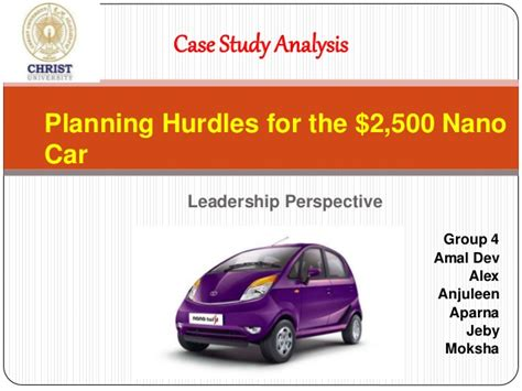 Study On Tata Nano Project Mba by Study Of 2500 Tata Nano
