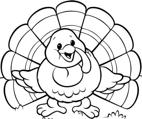 blank turkey template cooked turkey template