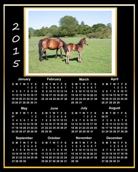 Printable Calendar 2015 Horses | 2015 calendar beautiful horses free stock photo public