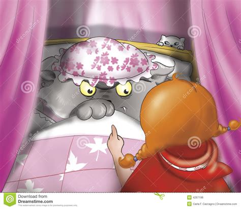 bad in bed bad wolf in bed royalty free stock image image 4297196