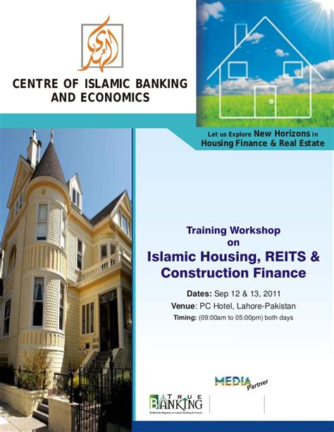 islamic house loan training workshop on islamic housing reits and construction finance