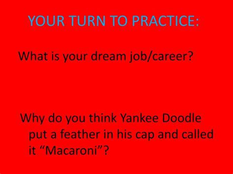 why did yankee doodle name his feather macaroni ppt stoplight paragraph writing powerpoint presentation