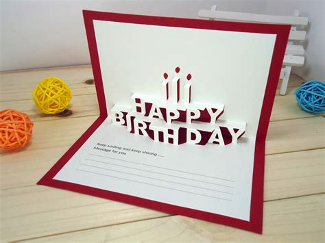 Origami Birthday Card Ideas - card invitation design ideas 14 5x9 5cm happy birthday