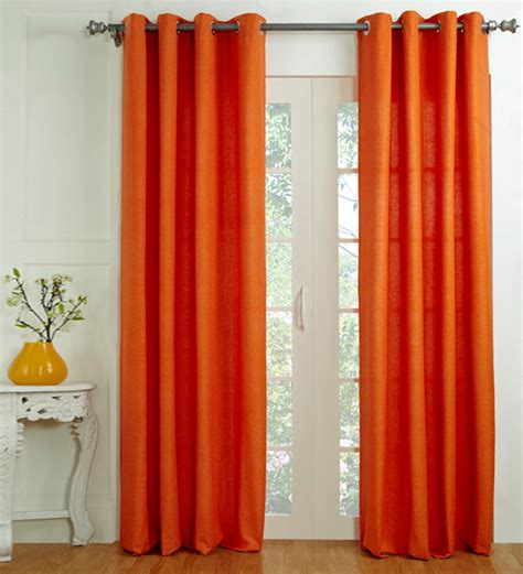 pepperfry curtains house this orange door curtain 9 ft by house this online