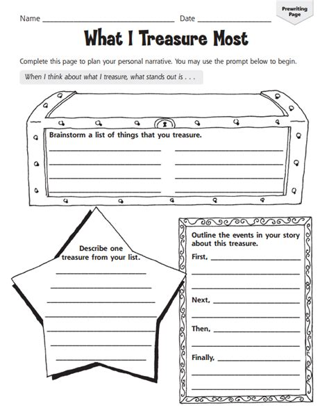 personal narrative writing template graphic organizers for personal narratives scholastic