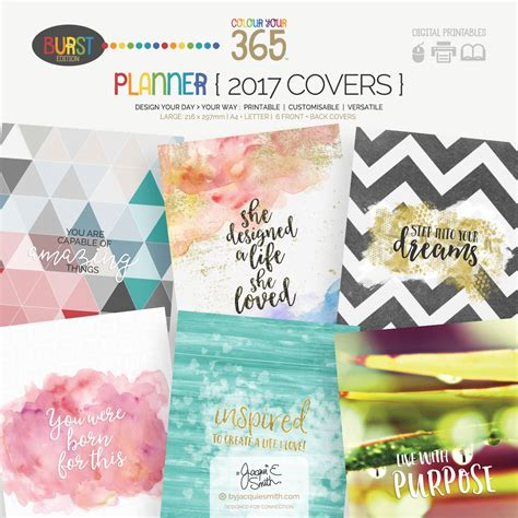life planner cover printable inspired to create a life you love free wallpaper