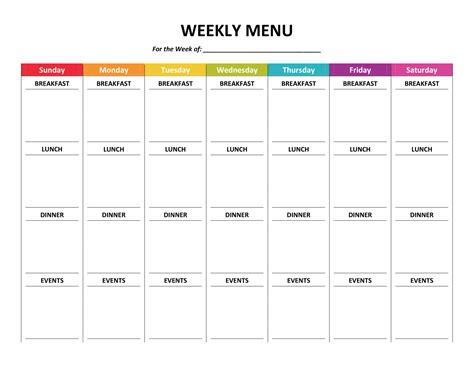 daily agenda rainbows