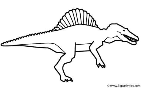 spinosaurus with title coloring page dinosaurs