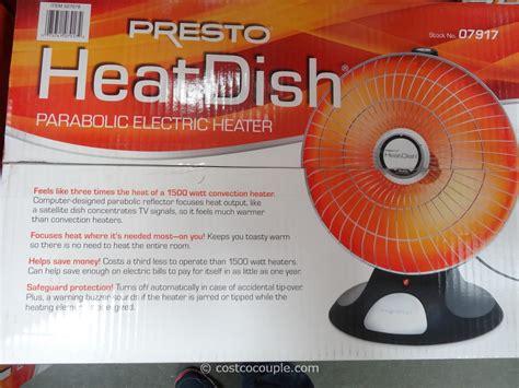 costco room heater presto heatdish parabolic heater