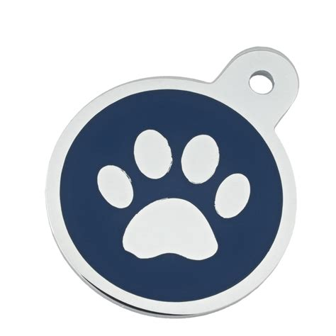petco tags tag large blue paw circle personalized engraved pet id tag large petco