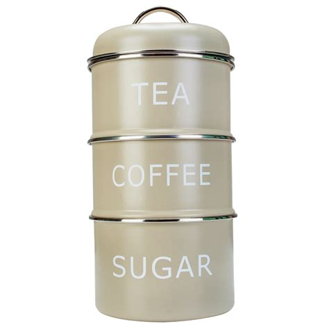 Retro Kitchen Canisters Set by Pale Green Home Sweet Home Tea Coffee Sugar Vintage Retro