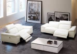 Leather Power Reclining Living Room Sets Gaia White Leather Power Reclining Living Room Set 18253