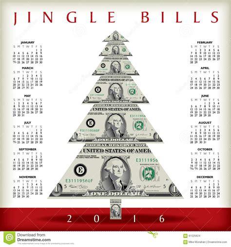 Calendar Dollar Tree 2016 Calendar Stock Vector Image 61525624
