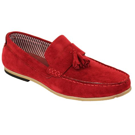 mens loafers shoes mens moccasins suede look loafers slip on boat shoes by