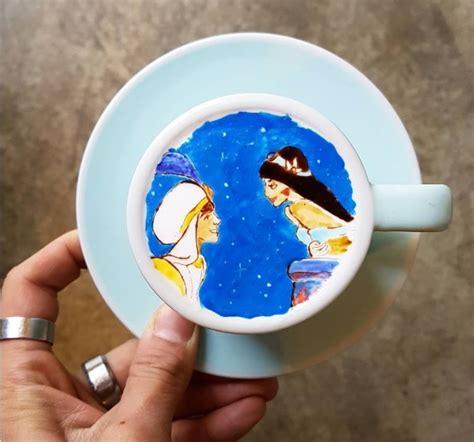 Lukisan Kopi Artwork Coffee 1 wih cantiknya lukisan di atas kopi karya kang bin