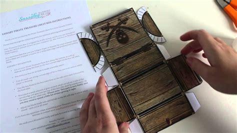 How To Make A Paper Treasure Chest - pirate treasure chest box tutorial