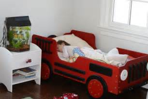 Firetruck Bedroom truck toddler beds for boys