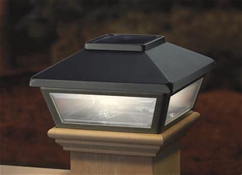 Black Solar Post Cap Light Decorative Solar Light For 4x4