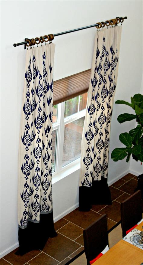 stenciled drop cloth curtains diy curtains made from drop cloths amy krist curtains