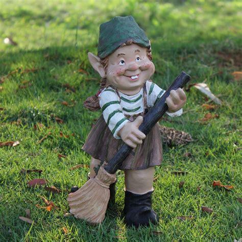 doll yard art garden gnome statue figurines lawn yard ornament