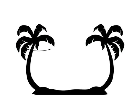 black and white palm tree clip art clipart best