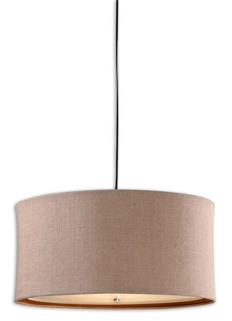 Burlap Pendant Light Alamo 3 Light Burlap Drum Pendant 21932 Lighting Fixtures