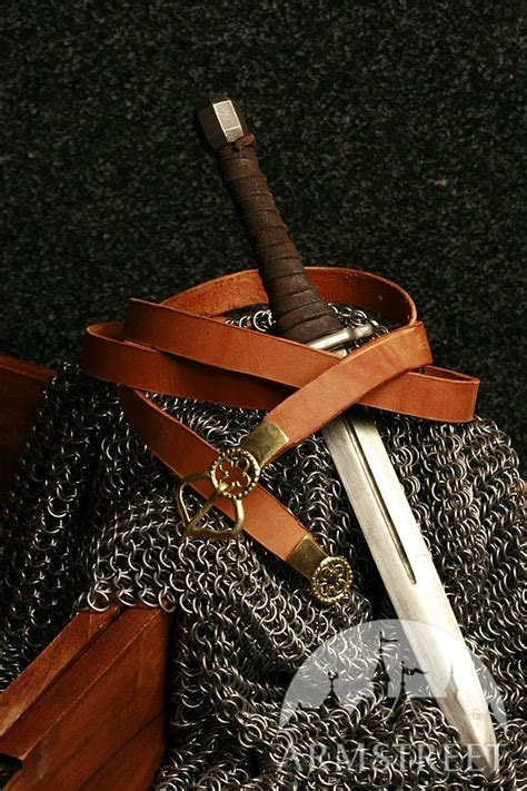 Handmade Leather Store - handmade leather belt with molded accents for