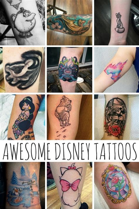 awesome disney tattoos mom spark mom blogger