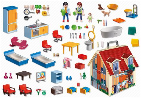 playmobil take along dolls house maison transportable 5167 playmobil 174 france